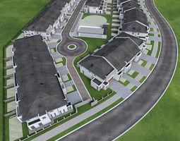 Neighborhood Houses 02 3D model