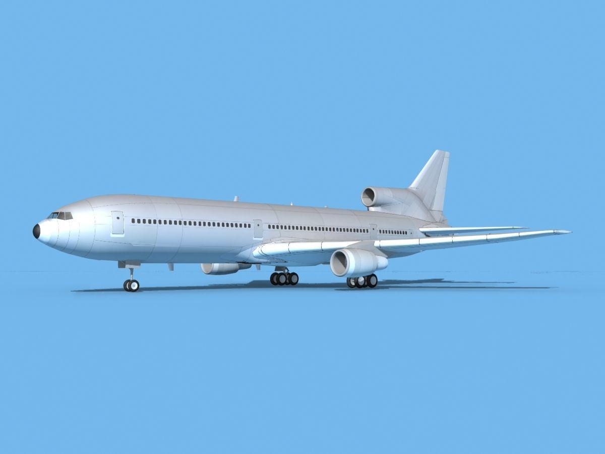 Lockheed L-1011 TriStar Bare Metal
