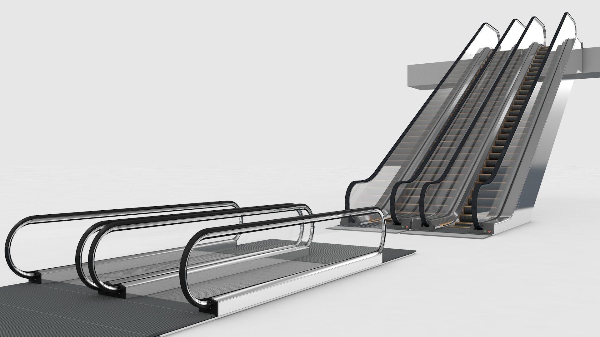 Escalator and Moving Walkway Rigged
