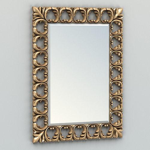 rectangle mirror frame 004 3d model max obj fbx stl 1