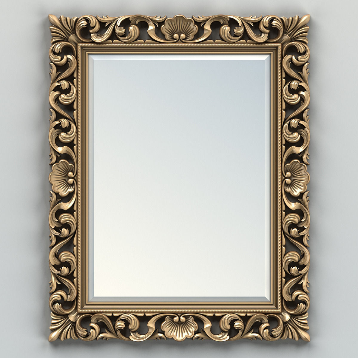 Rectangle mirror frame 006 3D | CGTrader