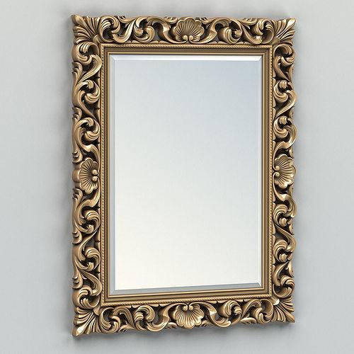 rectangle mirror frame 006 3d model max obj fbx stl 1