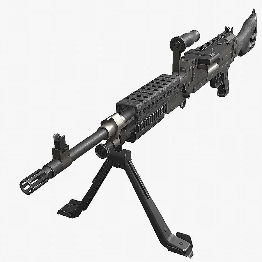 3D model VR / AR ready M240 machine gun | CGTrader