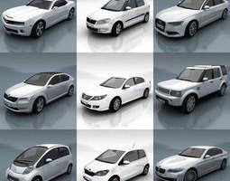 10 - city cars models f 3d model low-poly max