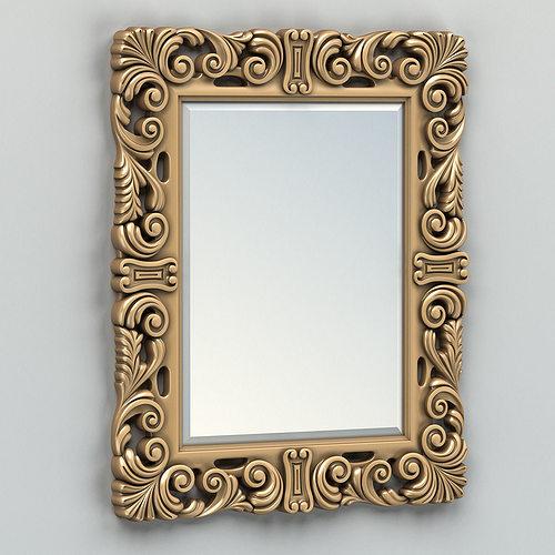 rectangle mirror frame 007 3d model max obj mtl fbx stl 1