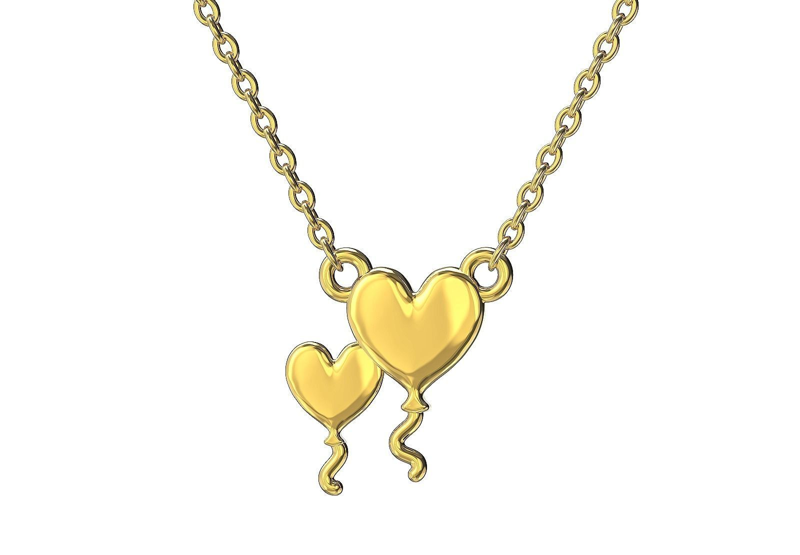 Heart balloons necklace
