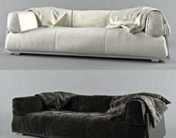 3D model Hard Soft sofa
