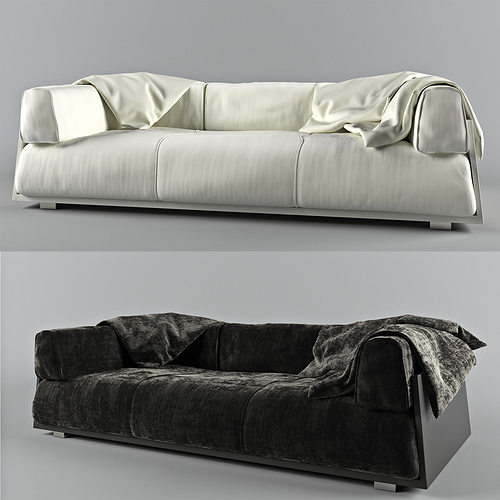 3d Model Hard Soft Sofa Cgtrader