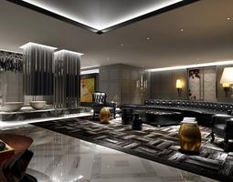luxury lobby 3d model