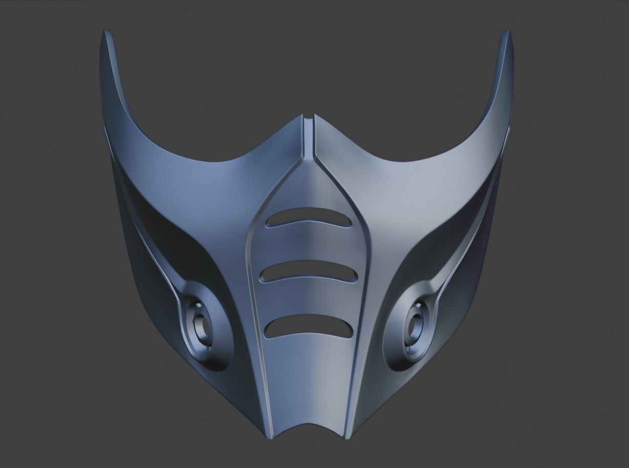 3d Print Model Sub Zero Cyber Shinobi Mask From Mortal 4