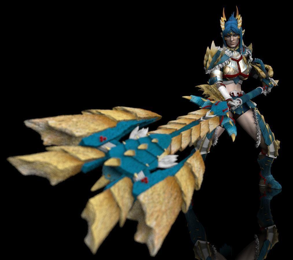 Monster Hunter Zinogre Armor Statue