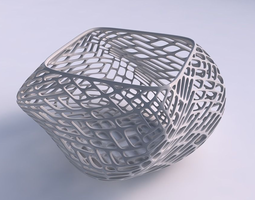 Bowl helix with lattice tiles 3D printable model