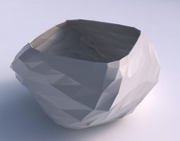 Bowl helix with low-polygon 3D printable model