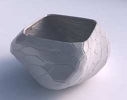 3d print model bowl helixwith organic cells with organic cells