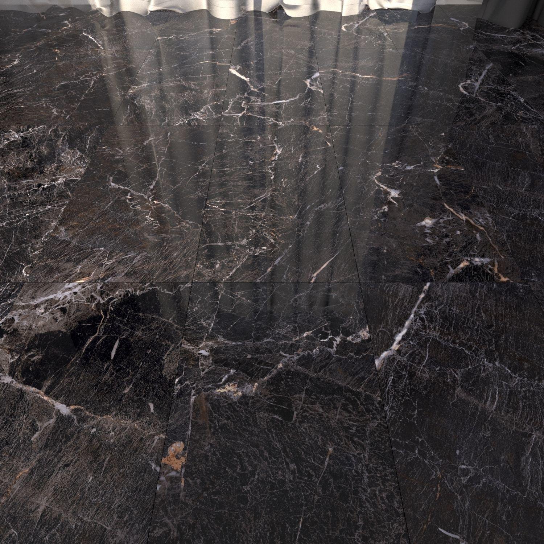 Marble Floor Java Black Set 2