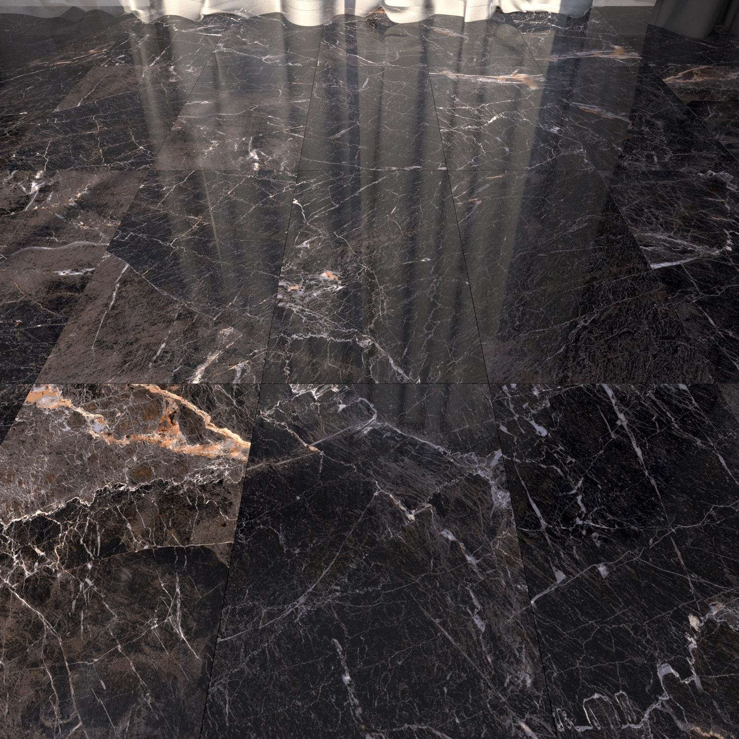 Marble Floor Java Black Set 3