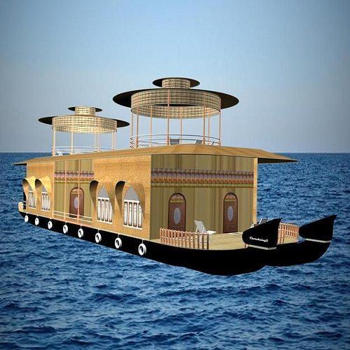 Recreational House Boat 3D Model