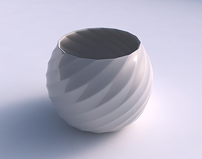 3D print model Bowl spheric with bands