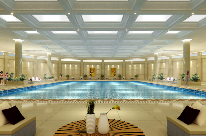 3d model swimming pool cgtrader for Pool design 3d