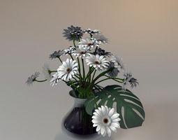 3D model gerbra flowers