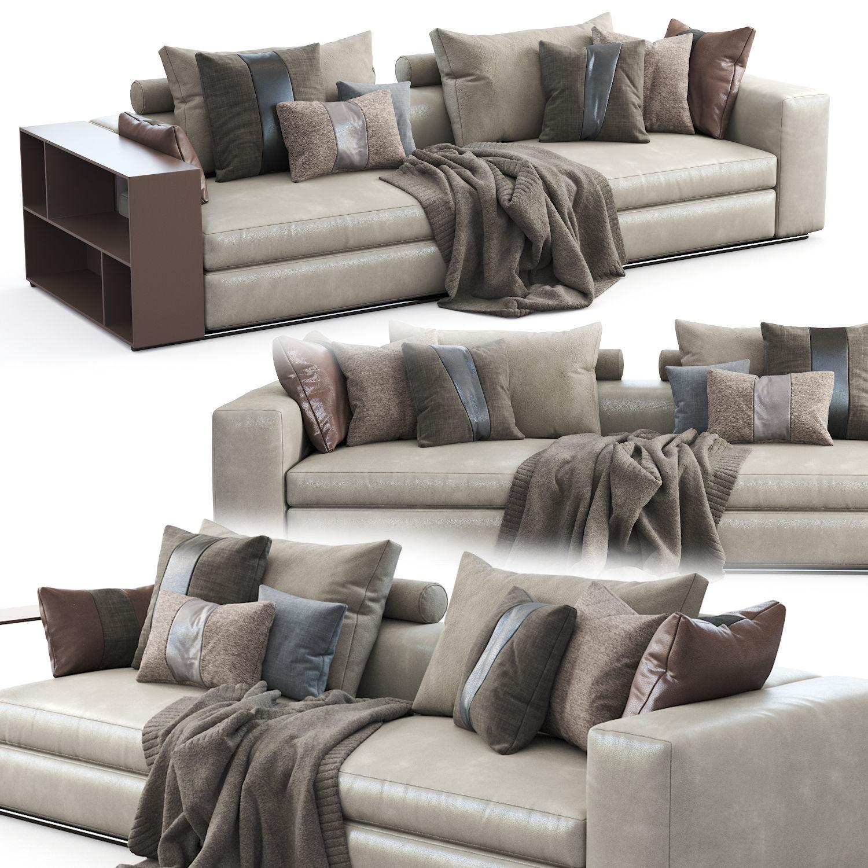 Flexform Sofa Groundpiece 3D model | CGTrader