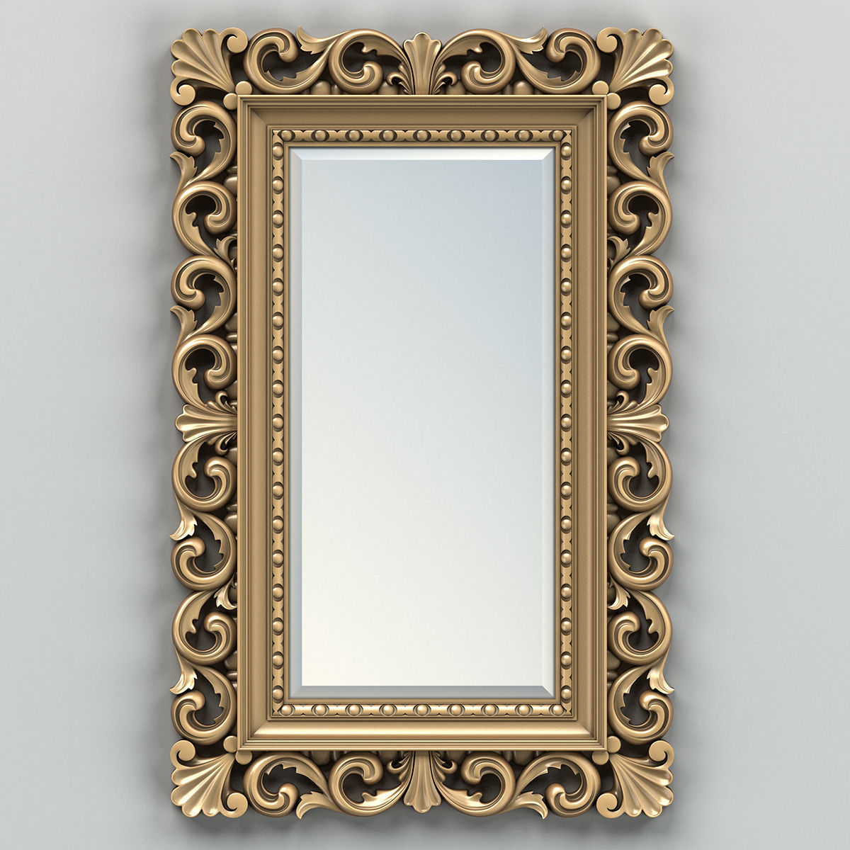 3D model Rectangle mirror frame 010 | CGTrader