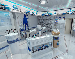 Mobile Phone Shop Interior 01 3D asset
