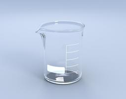 3d model beaker flask
