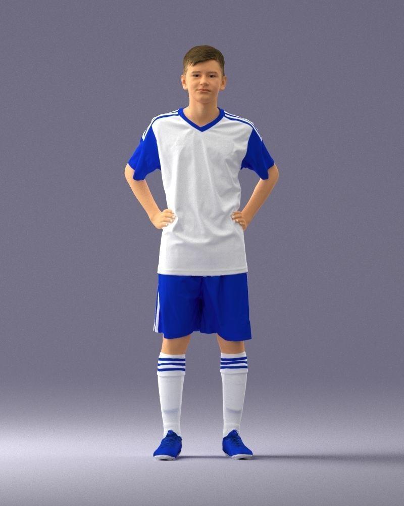 Soccer player 1114-2 3D Print Ready