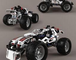 3d lego technic quad-bike alternative model
