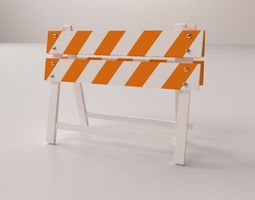 safety barrier 3d model