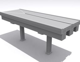 3d model VR / AR ready road and highway set base