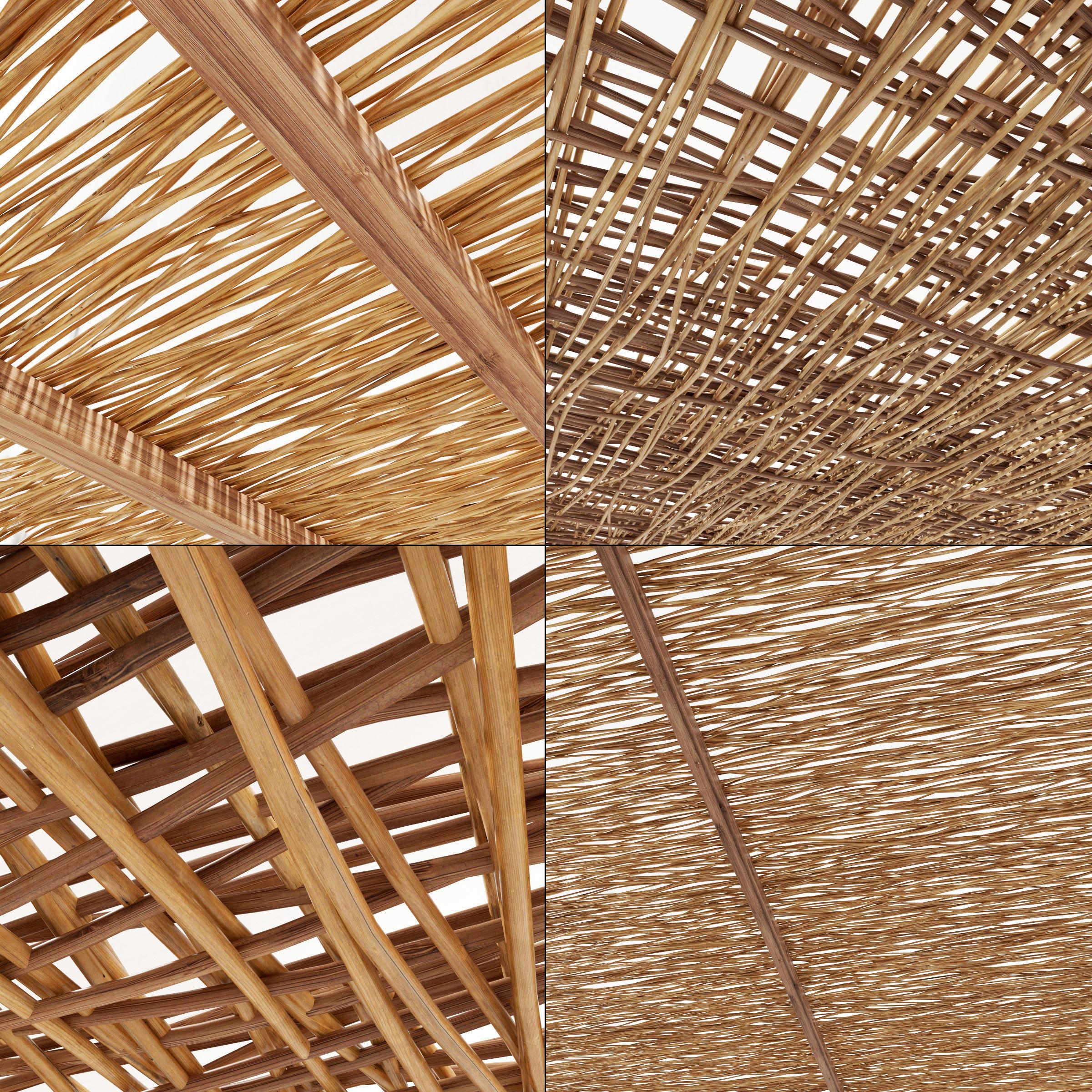 Ceiling wood  thin branch beam n1