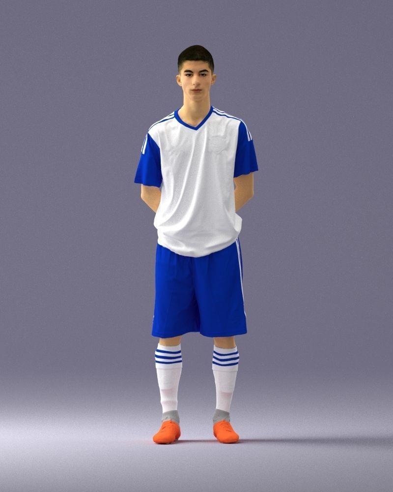 Soccer player 1114-3 3D Print Ready