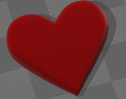 Emoji Heart 3D Model