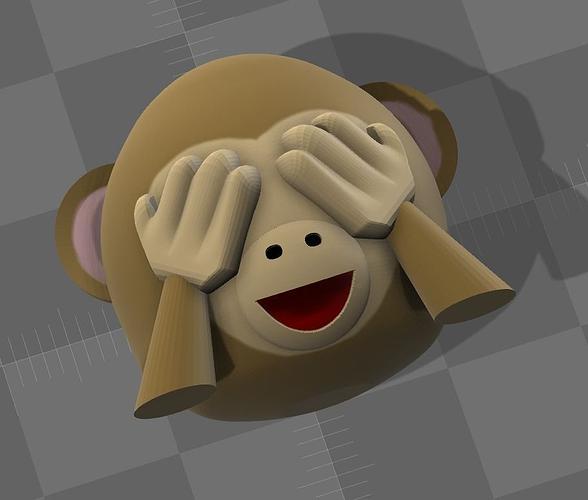 emoji monkey 01 3d model stl wrl wrz 1