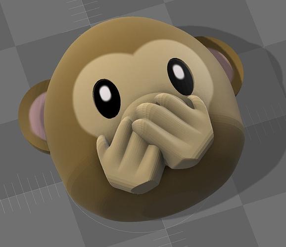 emoji monkey 02 3d model stl wrl wrz 1