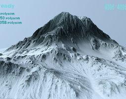 snow mountain 3D asset