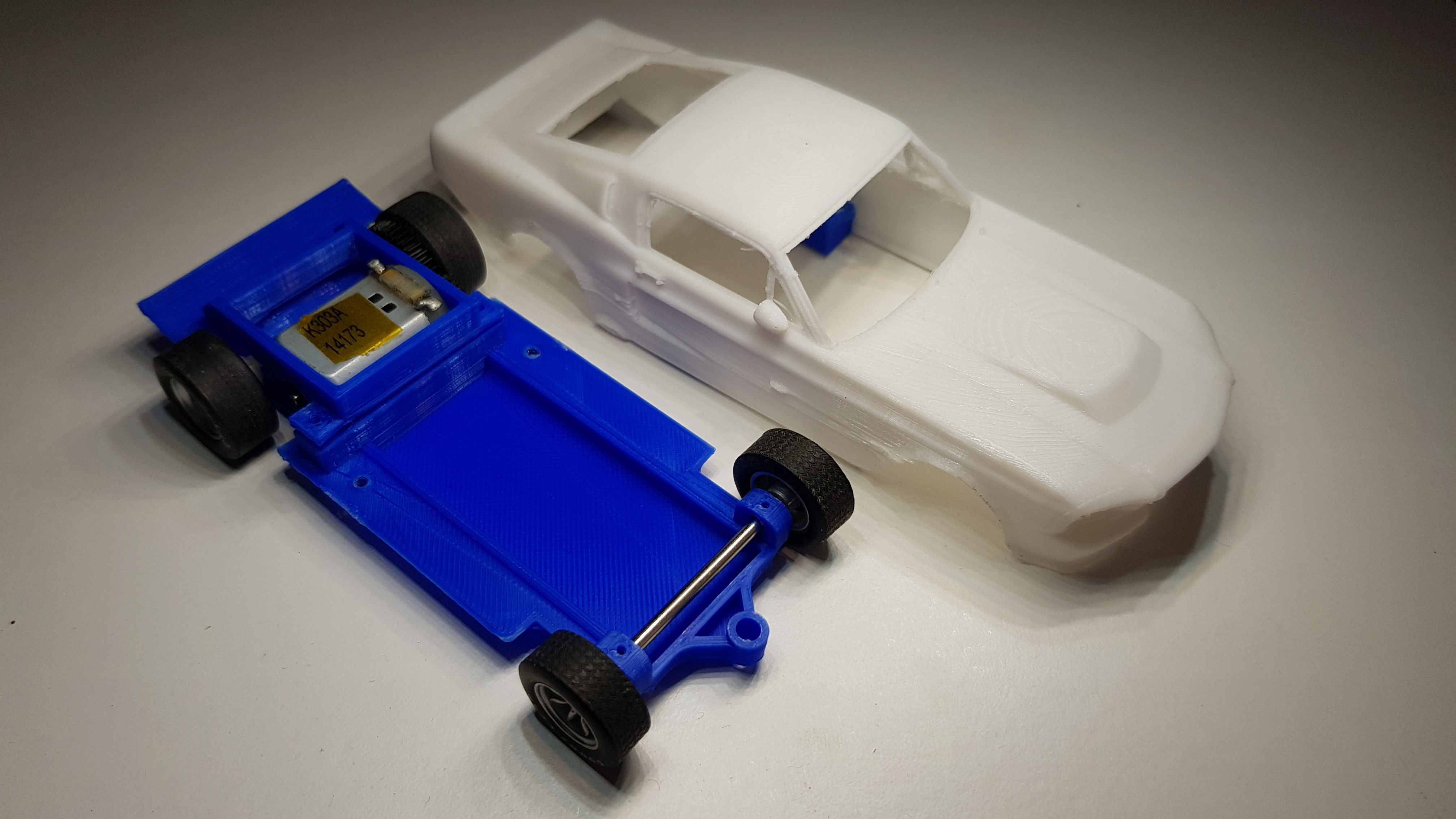 Ford Mustang GT500 Eleanor Slot Car Chassis