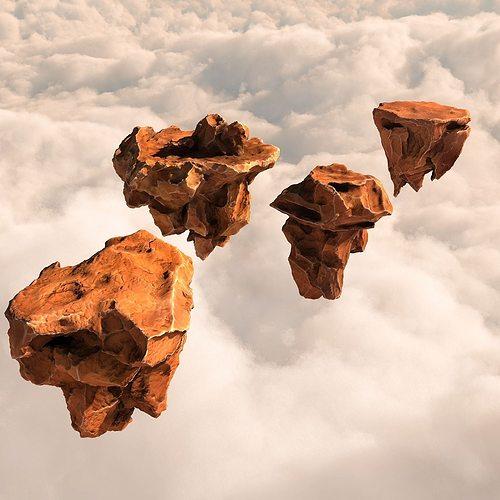 3d Asset Flying Rocks Pack And Bonus Hdri Map Cgtrader