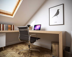 3D home office 5