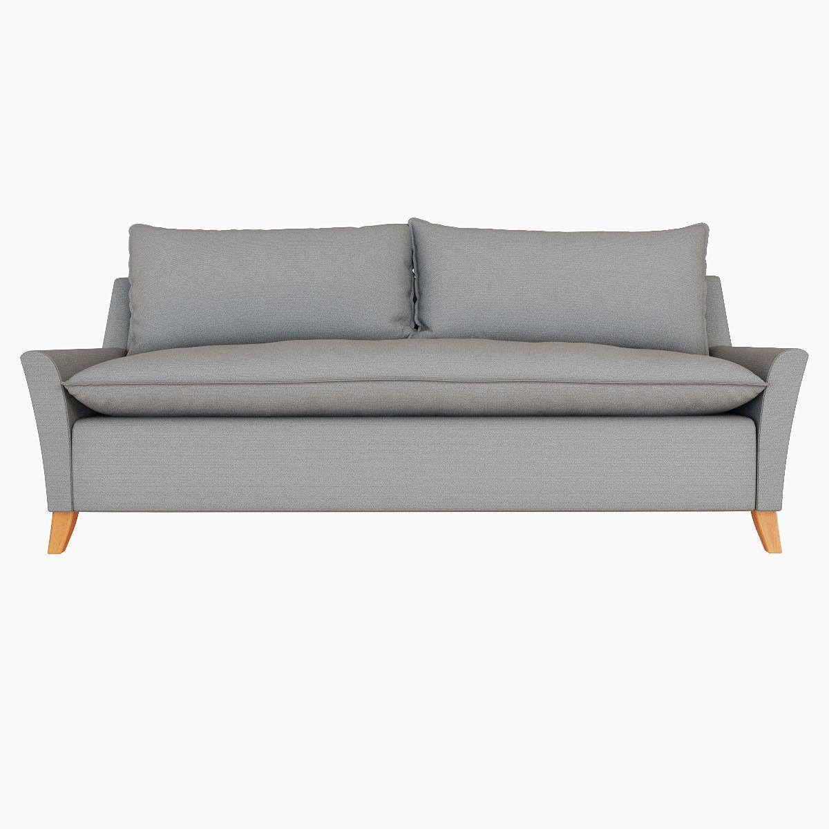 ... West Elm Bliss Down Filled Sofa 3d Model Max Obj Fbx Mtl 3 ...