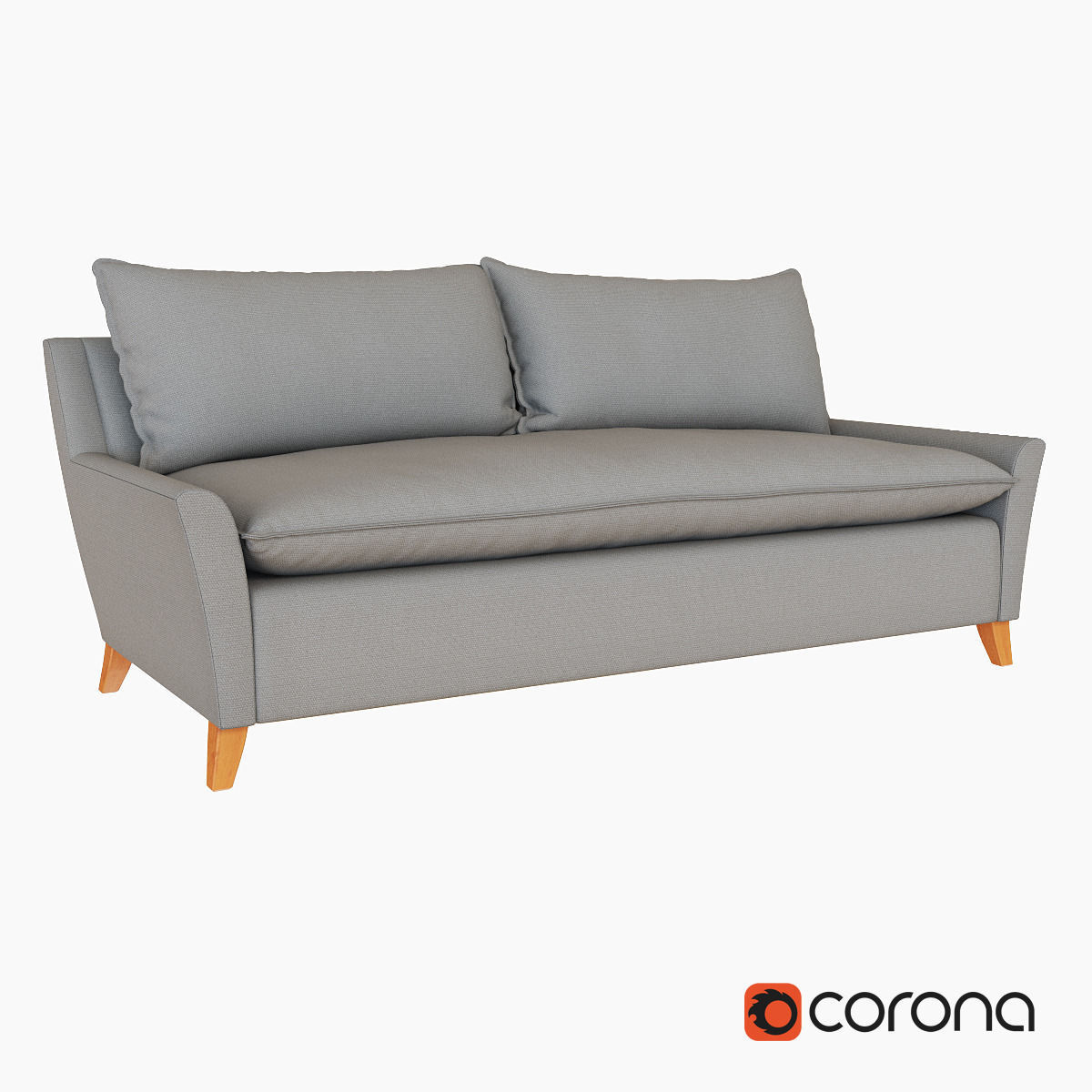 West Elm Bliss Down-Filled Sofa 3D