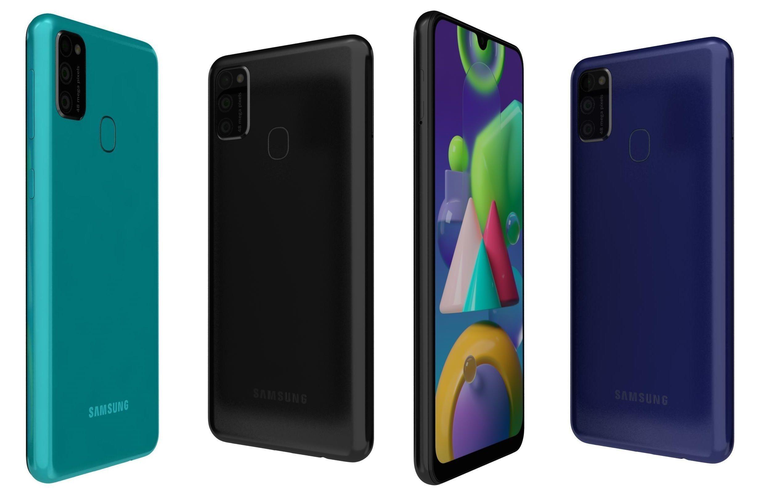 Samsung Galaxy M21 All Colors 3D | CGTrader