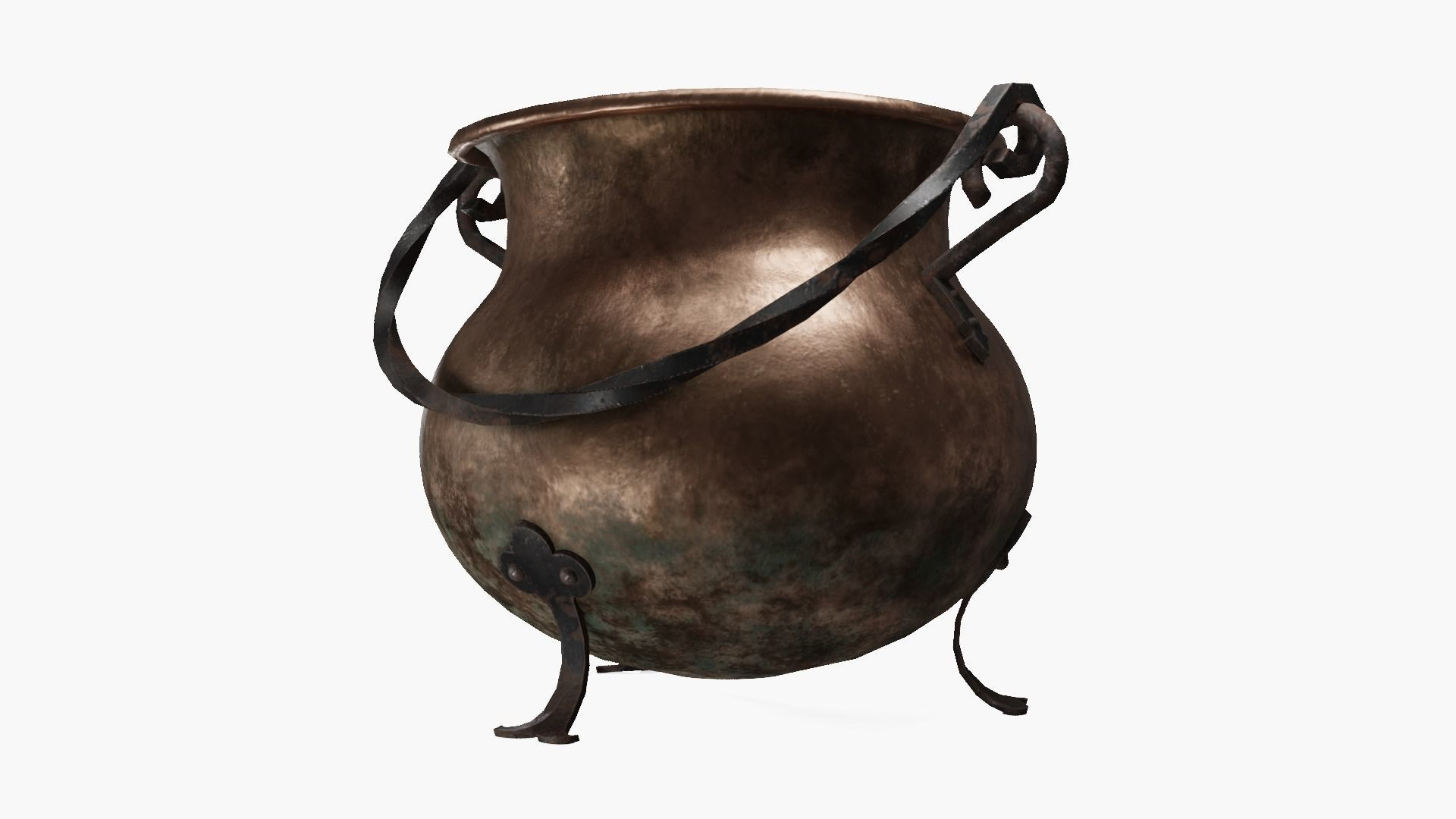 Copper cauldron