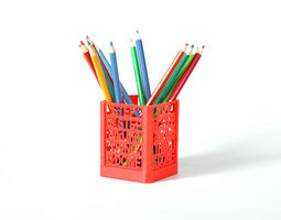 3d printable model step by step desk organizer