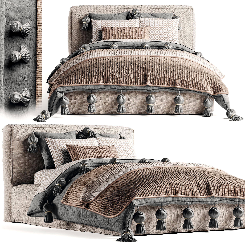 RH Brook Bed