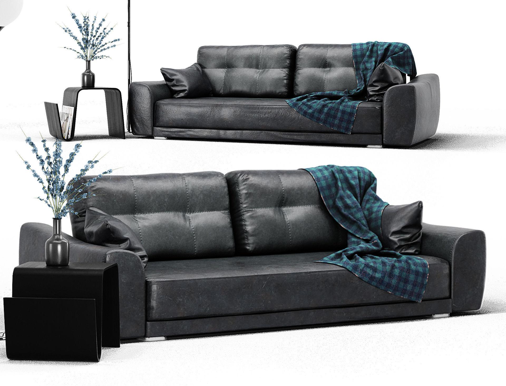 Leather Sofa Set 3D model | CGTrader