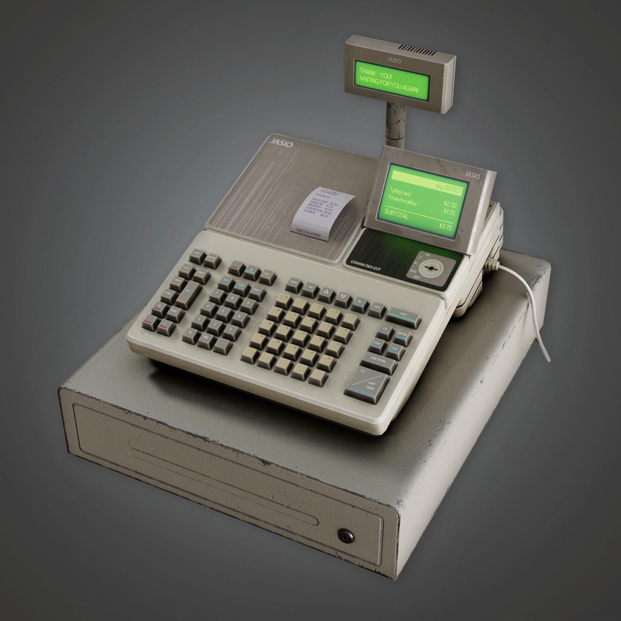 SAM - Commercial Cash Register - PBR Game Ready