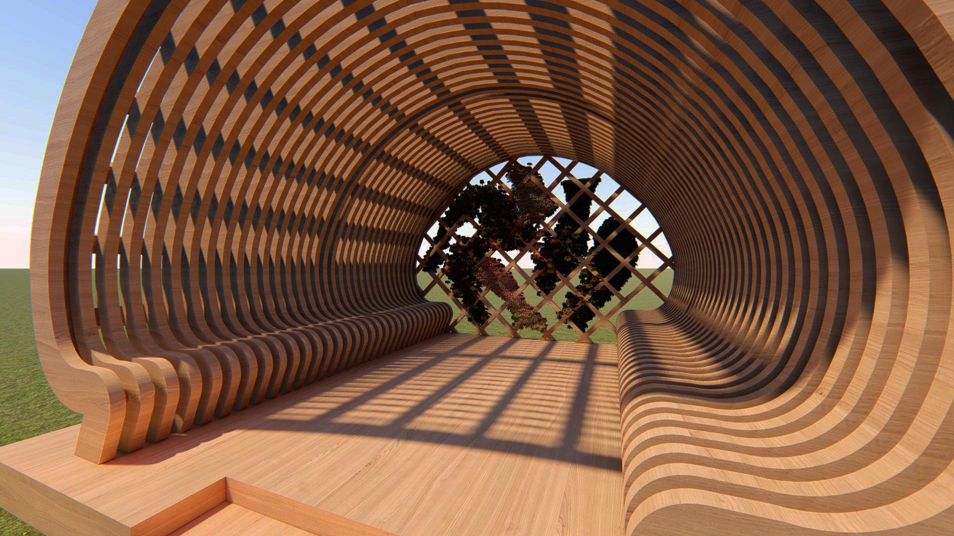 Spade Gazeebo wooden pergola